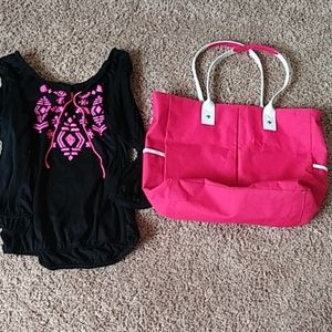Purse and shirt